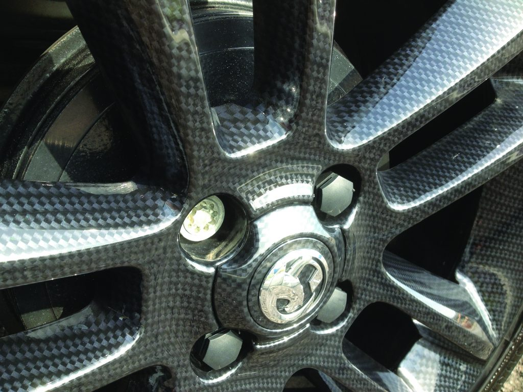 Hydrodipped alloy wheel